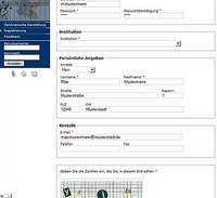 Registrierungsformular Beteiligungsverfahren