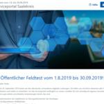 Homepage des Feldtest für Serviceportal Saalekreis ©brain-SCC GmbH