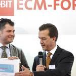 Verleihung FP-Award durch Hans Szymanski, Vorstand Francotyp-Postalia Holding AG an Sirko Scheffler, Geschäftsführer brain-SCC GmbH (v.r.n.l) - Fotografie Hannover Daniel Möller
