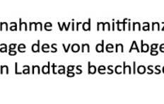 Förderung durch den Sächsischen Landtag
