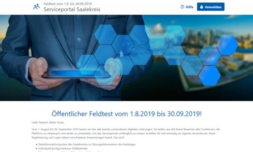 Screenshot 2019 09 17 Startseite Serviceportal Saalekreis ©brain-SCC GmbH